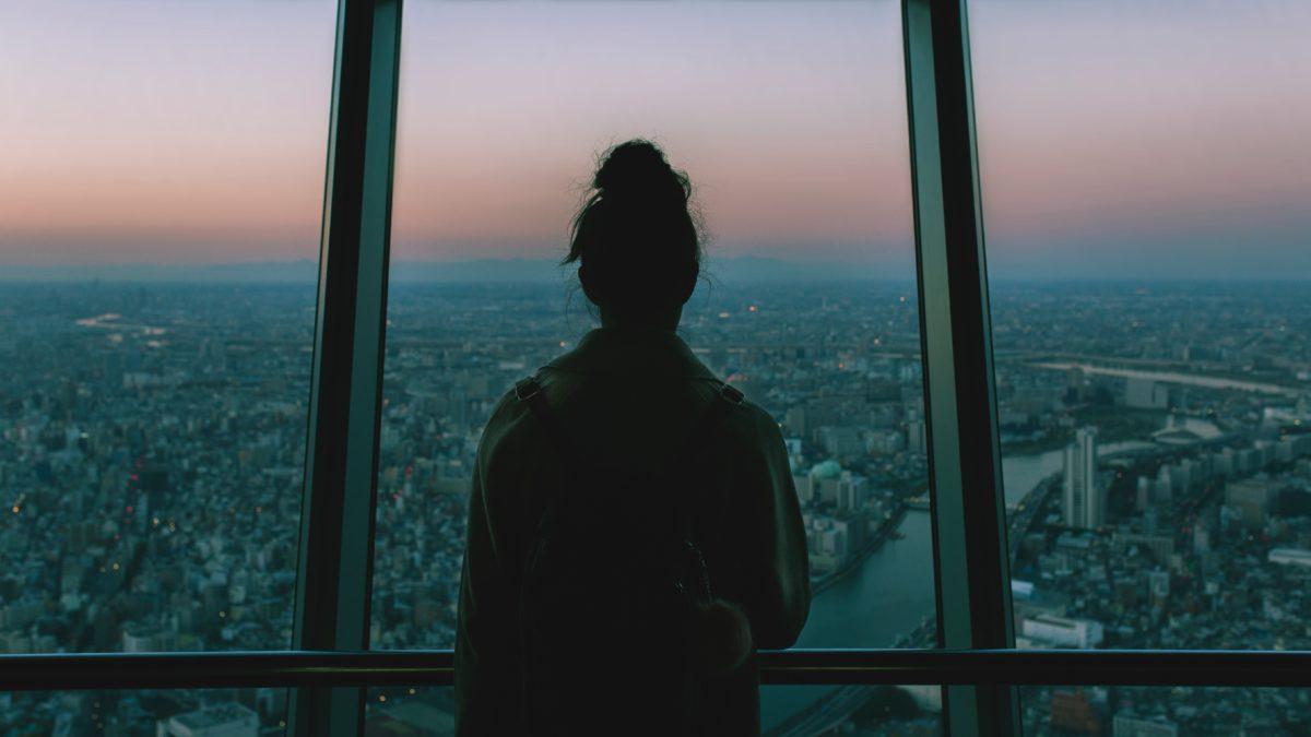 Una sera sulla Tokyo SkyTree